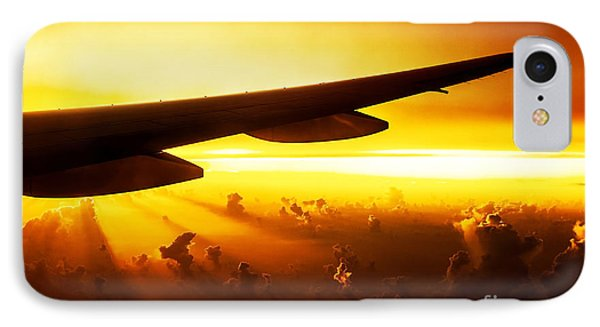 Airplane On Sunset IPhone Case