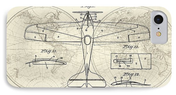 Airplane Patent Collage IPhone Case by Delphimages Photo Creations