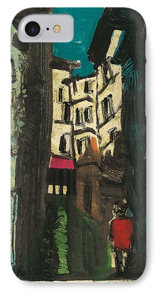 IPhone Case featuring the painting Aix En Provence Street by Martin Stankewitz