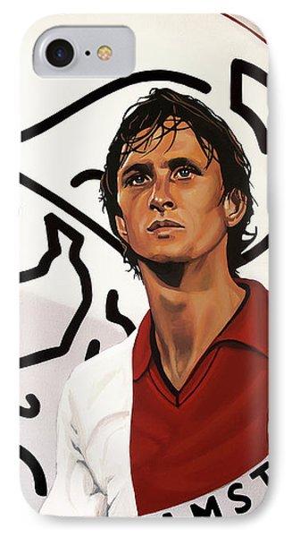 Ajax Amsterdam Painting IPhone Case by Paul Meijering