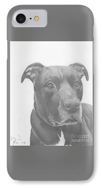 Ajax Graphite Dog Portrait  IPhone Case