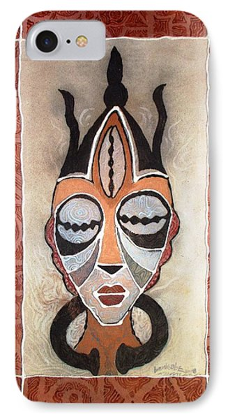 Aje Mask IPhone Case by Bankole Abe