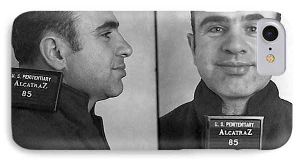 Al Capone Alcatraz Mugshot IPhone Case by Jon Neidert