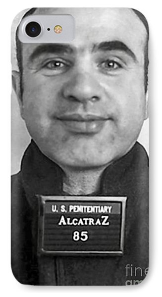 Al Capone Mugshot At Alcatraz IPhone Case by Jon Neidert