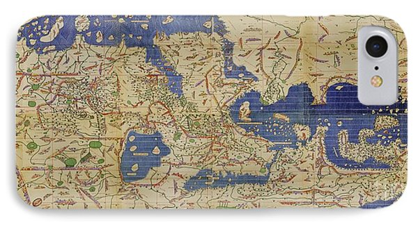 Al Idrisi World Map 1154 Phone Case by SPL and Photo Researchers