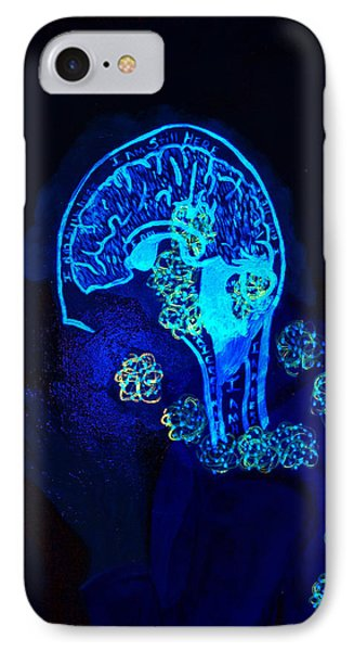 Al In The Mind Black Light View IPhone Case by Lisa Brandel