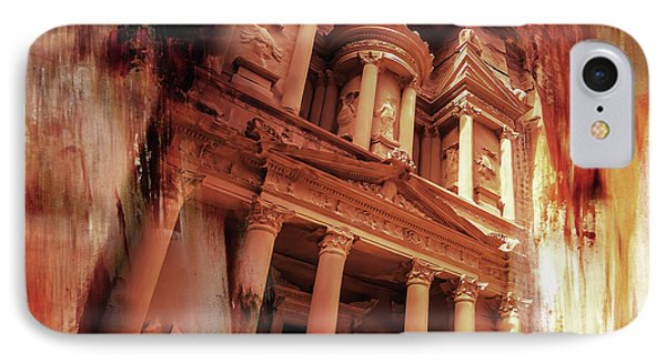 Al Khazneh Petra Jordan 01 IPhone Case by Gull G