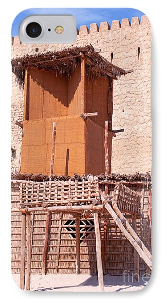 Al Manama Summer Bed And House With Cooling Tower Phone Case by Chris Smith