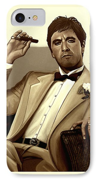 Al Pacino In Scarface IPhone Case by Meijering Manupix