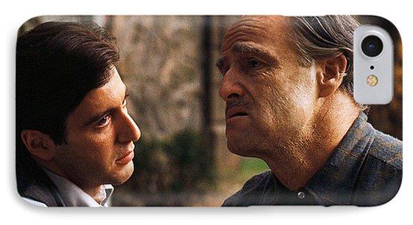 Al Pacino Marlon Brando The Godfather Publicity Photo 1972 IPhone Case by David Lee Guss