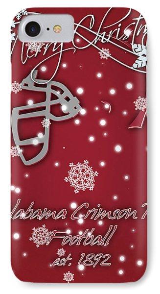 Alabama Crimson Tide Christmas Card 2 IPhone Case by Joe Hamilton