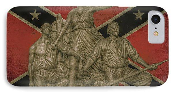 Alabama Monument Confederate Flag IPhone Case