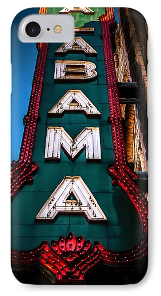 Alabama Theater Sign 1 Phone Case by Phillip Burrow