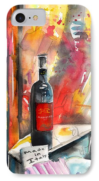 Alabastro Wine From Italy Phone Case by Miki De Goodaboom