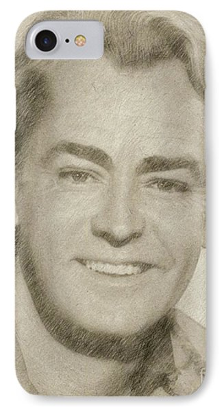 Alan Ladd Vintage Hollywood Actor IPhone Case by Frank Falcon