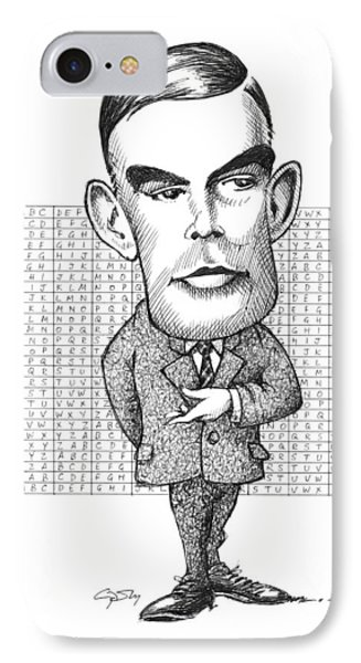 Alan Turing, British Mathematician Phone Case by Gary Brown