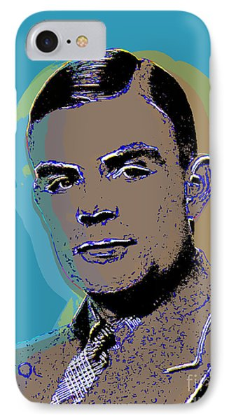 IPhone Case featuring the digital art Alan Turing by Jean luc Comperat