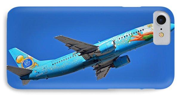 Alaska Boeing 737-490 N791as Tinker Bell Phoenix Sky Harbor January 12 2016 Phone Case by Brian Lockett