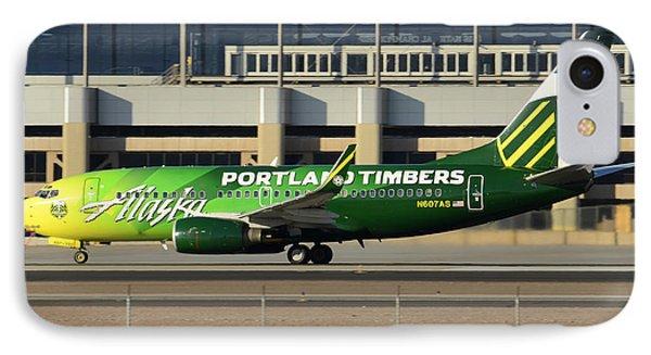 Alaska Boeing 737-790 N607as Phoenix Sky Harbor December 27 2015 Phone Case by Brian Lockett
