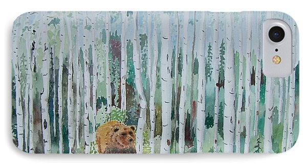Alaska -  Grizzly In Woods IPhone Case by Christine Lathrop