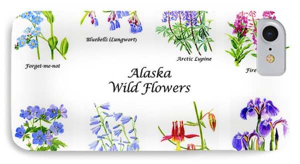 Alaska Wild Flowers Poster Horizontal IPhone Case