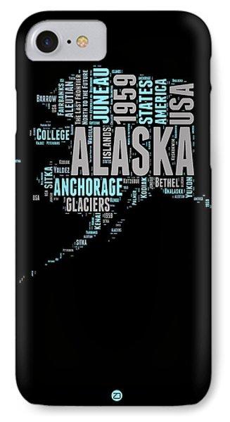 Alaska Word Cloud 1 IPhone Case by Naxart Studio