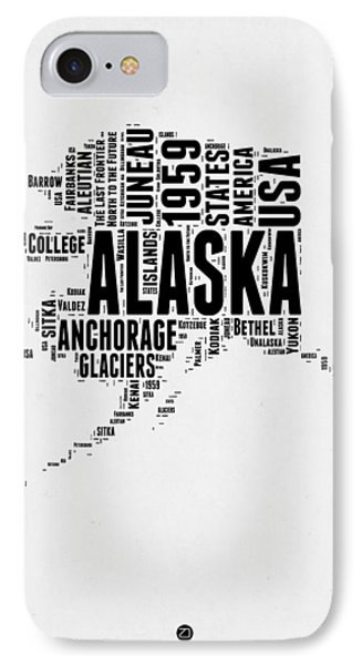 Alaska Word Cloud 2 IPhone Case by Naxart Studio