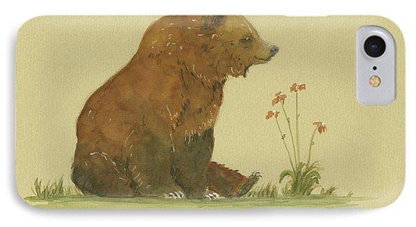 Alaskan Grizzly Bear IPhone 7 Case by Juan Bosco
