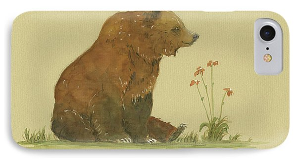 Alaskan Grizzly Bear IPhone Case by Juan Bosco