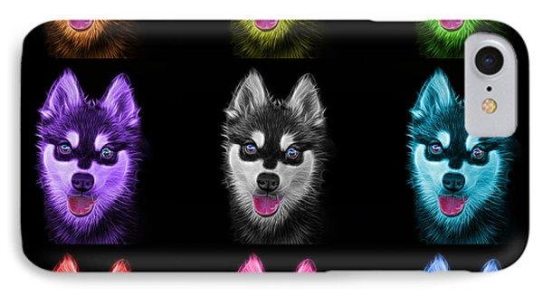 Alaskan Klee Kai - 6029 -bb - M IPhone Case by James Ahn