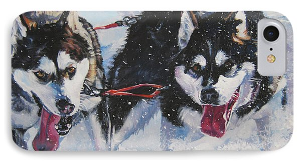 Alaskan Malamute Strong And Steady Phone Case by Lee Ann Shepard