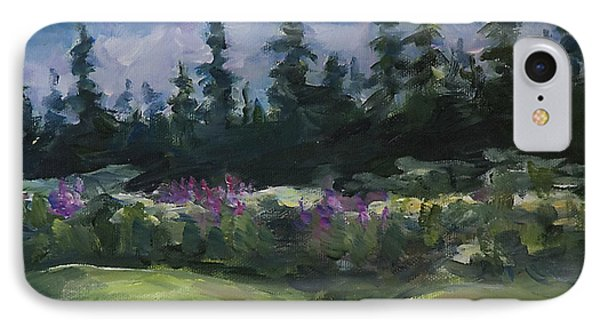 IPhone Case featuring the painting Alaskan Woods by Yulia Kazansky