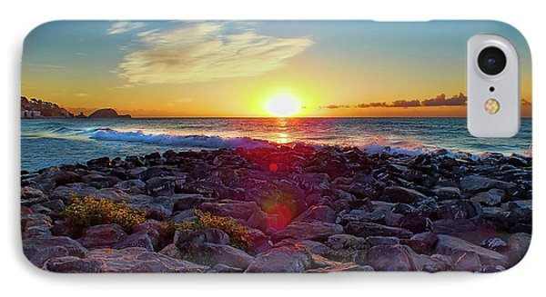 Alassio Sunset IPhone Case by Karen Lewis