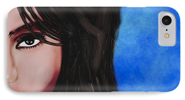 Jessica Alba iPhone 7 Case - Alba  by Mathieu Lalonde