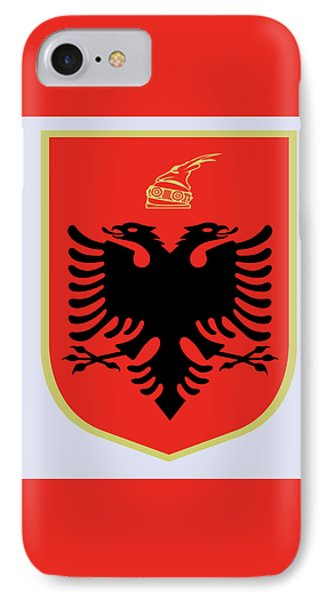 IPhone Case featuring the drawing Albania Coat Of Arms by Movie Poster Prints
