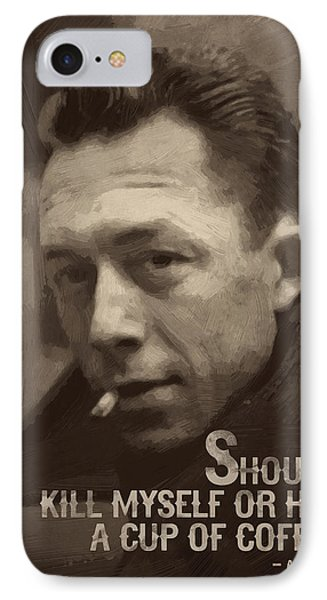 Albert Camus Quote IPhone Case by Afterdarkness