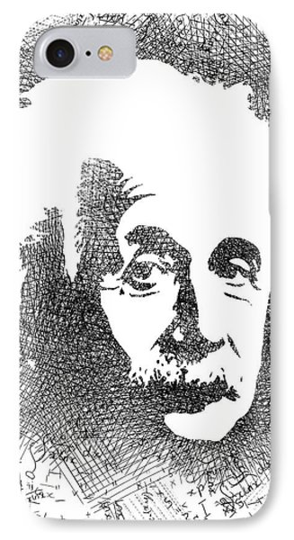 Albert Einstein Bw  IPhone Case by Mihaela Pater