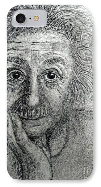 Albert Einstein IPhone Case by Cheryl Rose
