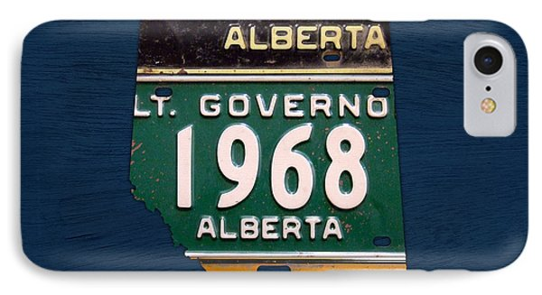 Alberta Canada Province Map Made From Recycled Vintage License Plates IPhone Case