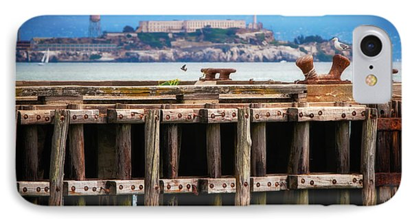 Alcatraz Beyond The Pier IPhone Case by Doug Sturgess