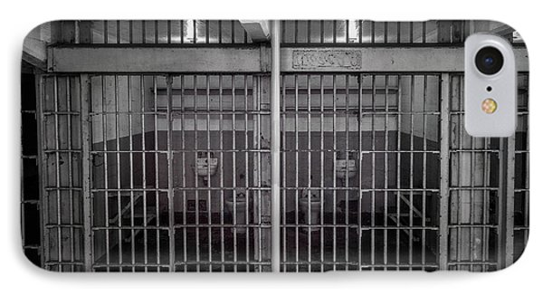Alcatraz Cell Block IPhone Case by Mike Burgquist