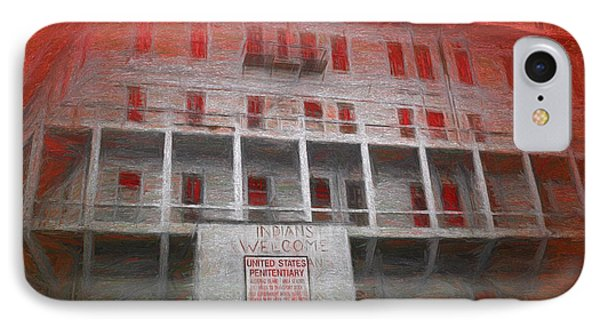 IPhone Case featuring the painting Alcatraz Federal Penitentiary by Michael Cleere