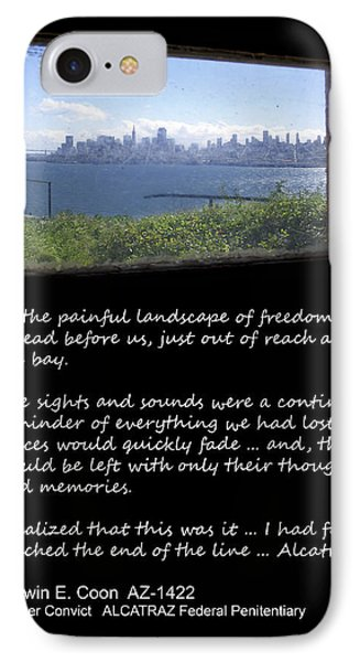 Alcatraz Reality - The Painful Landscape Of Freedom IPhone Case by Daniel Hagerman