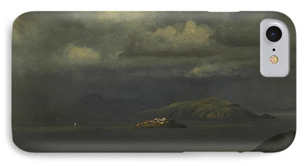 Alcatraz, San Francisco Bay IPhone Case by Albert Bierstadt