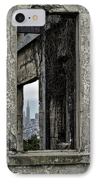 Alcatraz Window - San Francisco Skyline IPhone Case