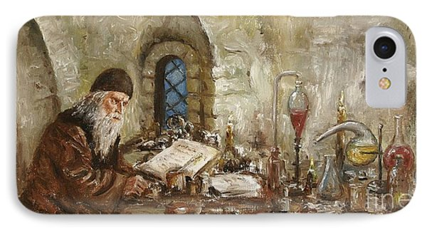 IPhone Case featuring the painting Alchemist by Arturas Slapsys