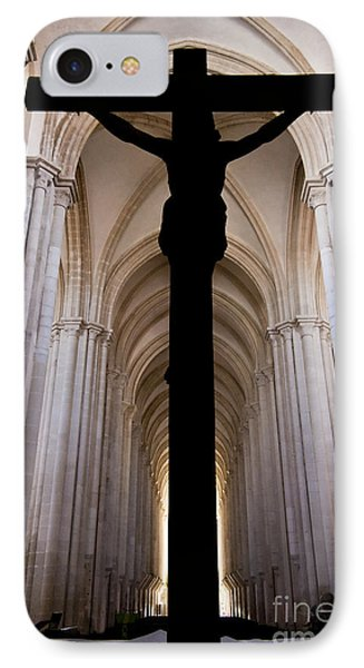 Alcobaca Monastery Church Crucifix IPhone Case by Jose Elias - Sofia Pereira