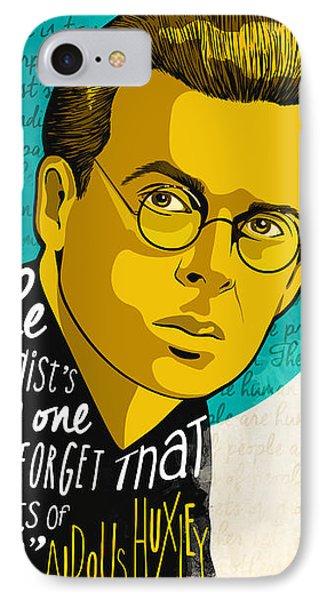 Aldous Huxley IPhone Case by Fulya Hocaoglu