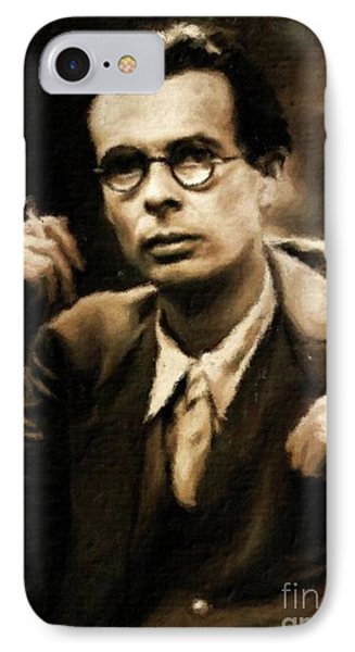 Aldous Huxley, Literary Legend By Mary Bassett IPhone Case by Mary Bassett