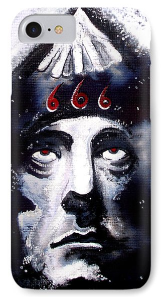 Aleister Crowley Space In Time With The Great Beast Phone Case by Sam Hane